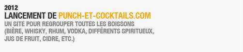 - 2012 Lancement de PUNCH-et-cocktails.com un site pour regrouper toutes les boissons (bière, whisky, rhum, vodka, différents spiritueux,Jus de fruit, cidre, etc.)