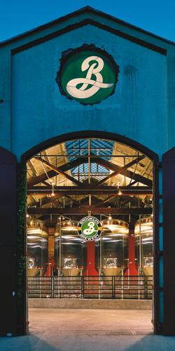 Les portes de la brasserie de Brooklyn