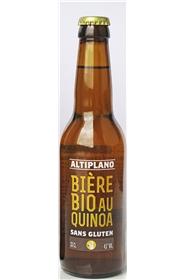 Bière Altiplano 33 cl Sans Gluten. Première bière de quinoa certifiée bio et commerce équitable, sans Gluten Cultiv