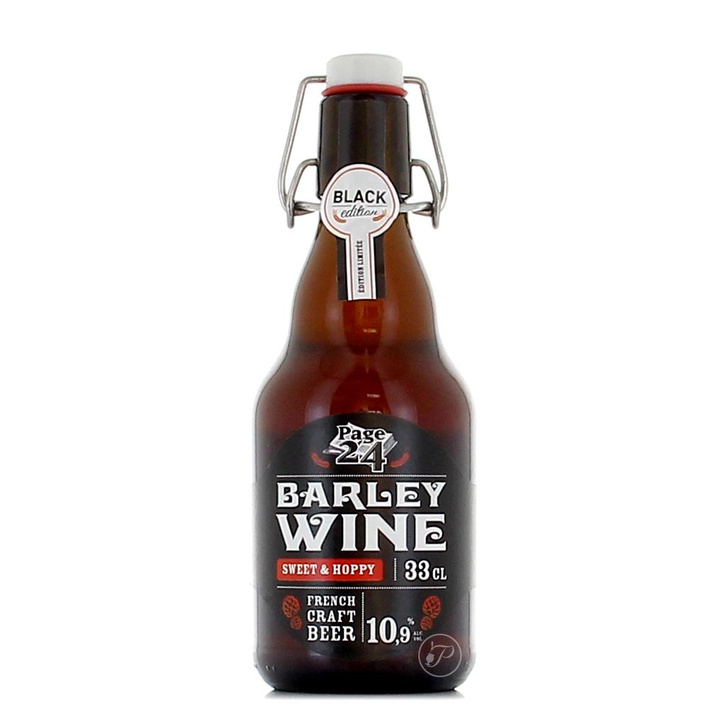 Bouteille Page 24 - Barley Wine - 33Cl. La Barley Wine (vin d?orge) est une bière complexe et originale fermentée avec deux levures dont