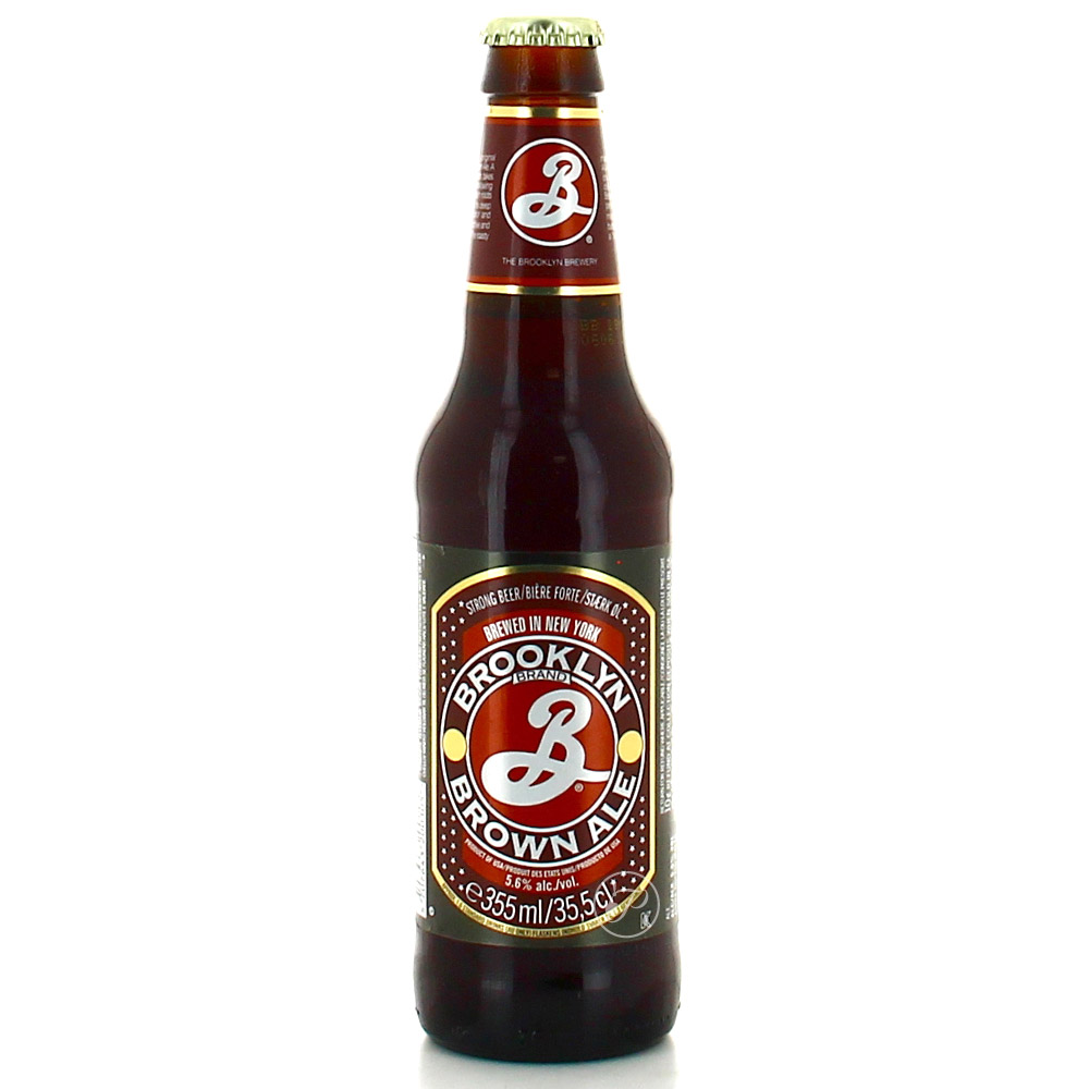 Bière Brooklyn Brown - 35,5cl. La American Brown Ale de la Brooklyn Brewery fut à l?origine brassée de façon saisonni&egra