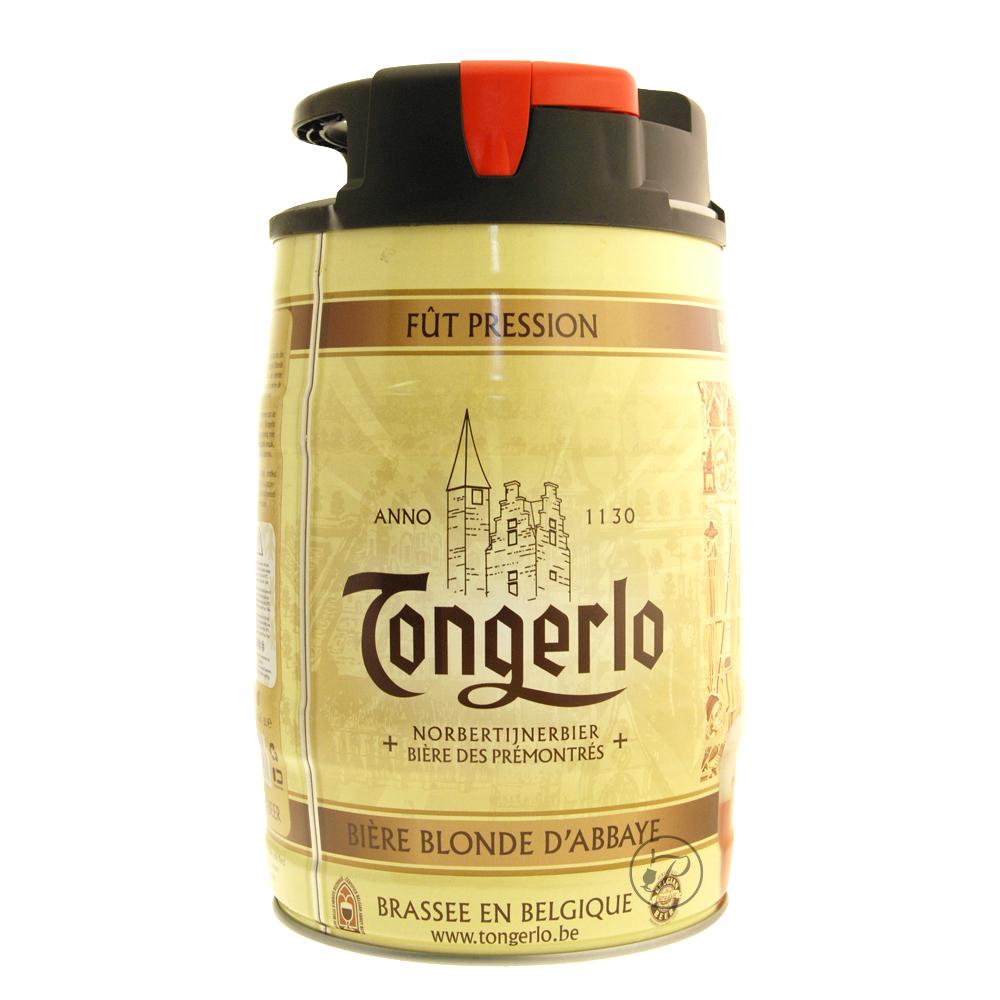 Fut bière TONGERLO 5L. Tongerlo fut de bière belge Une bière blonde d'Abbaye brassée en Belgique Bière des pr&eacut