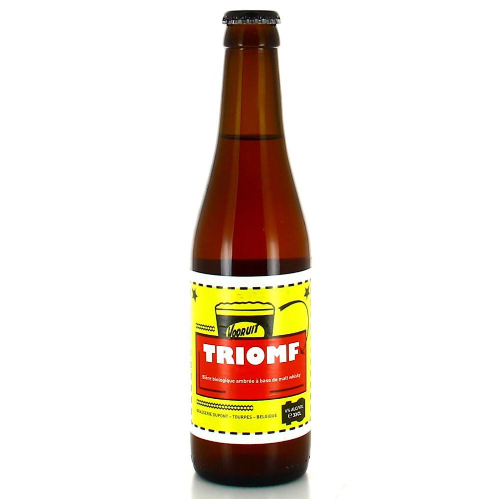 Bière Dupont Triomf Bio - 33cl. La Triomf a été brassée à l?occasion du 100ème anniversaire du Kunstencentru