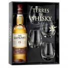 Coffret Terres de Whisky The Glenlivet 15 Ans French OAK 70cl. 40°. Le coffret Terres de Whisky The Glenlivet 15 Ans French OAK 70cl et ses 4 verr