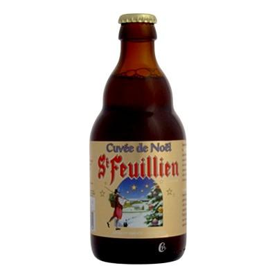 Ancien visuel Bière Saint Feuillien Noël 9° (Bouteille de bière)