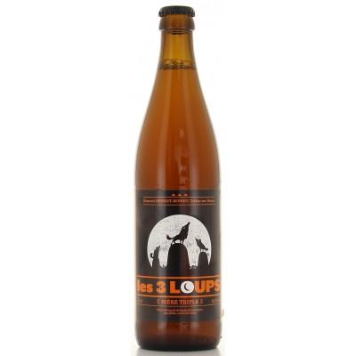 Bouteille de bière 3 Loups Triple 50cl