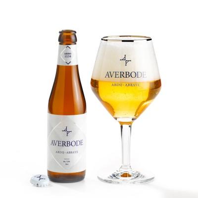 Le Verre et la bouteille 33cl Averbode, bière d'abbaye de 7.5°