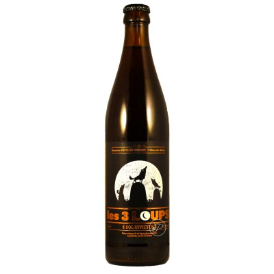 Bouteille de bière 3 LOUPS SOL INVICTUS 7.5° 50cl.
