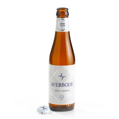 Bouteille de bière ouverte d'abbaye d'averbode 7.5° - 33cl