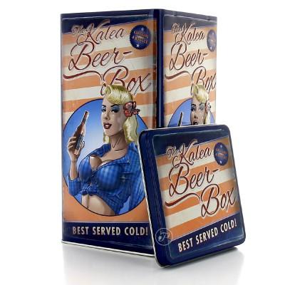 Coffret métal bière box - American Retro