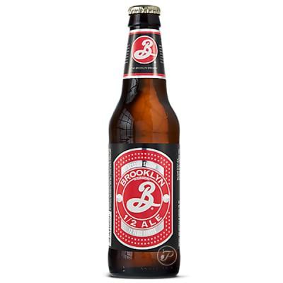Bouteille de bière blonde Brooklyn Brewery 1/2 ALE 3,4° - 35,5cl