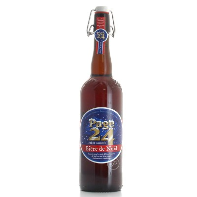 Bouteille de bière de Noel by Page 24 75cl 6.5°
