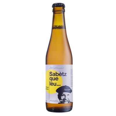 Bouteille de bière Sabetz Que Leu 7° 33cl.