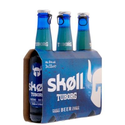 Bière Skoll de Tuborg 33cl.
