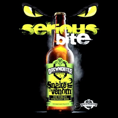 Bouteille de bière Snake Venom 27,5cl