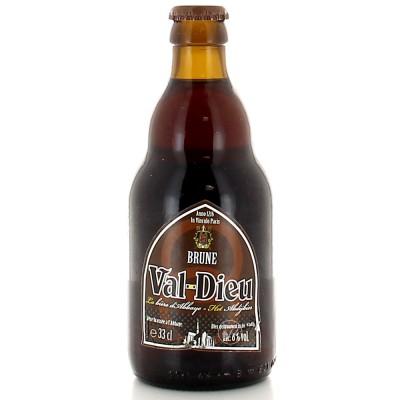 Bouteille de bière Val-Dieu Brune 33cl