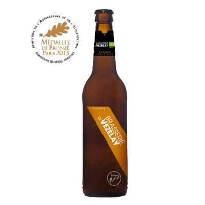 Bouteille de bière blonde BIO Vezelay 4,6° - 25cl (Bouteille de bière)