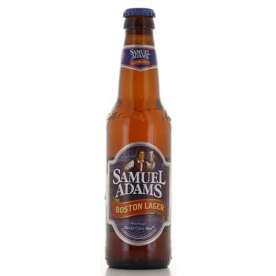 Bouteille de bière Samuel Adams Lager 35cl - 4,8°