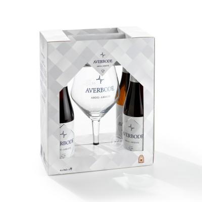 Coffret Averbode, bière d'abbaye de 7.5° et 1 Verres