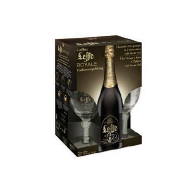 coffret de bi re leffe royale 3 x 75cl 2 verres. Black Bedroom Furniture Sets. Home Design Ideas
