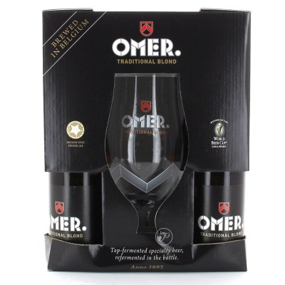 Coffret de bières Omer 4 X 33cl + 1 verre