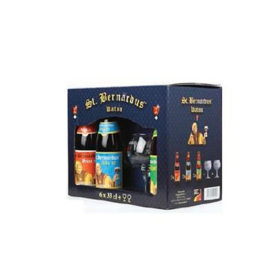 Coffret de bières St Bernardus 6 X 33cl + 2 verres (Coffret de bière)
