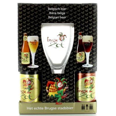 Coffret Brugse Zot - 4 bouteilles et 1 verre 33cl