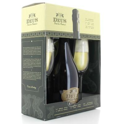 Coffret Deus des Flandres - 1 bouteilles et 2 verres