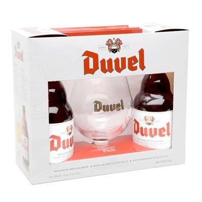Duvel 2 bouteilles + 1 verre Coffret