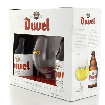 Coffret Duvel 2 bouteilles + 1 verre