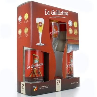 Coffret Bière Guillotine (8.5° 2x75cl + 1 Verre)