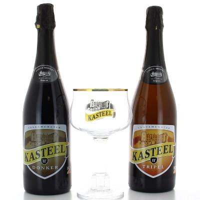 Coffret de bière Kasteel (2 Bouteilles et 1 Verre)
