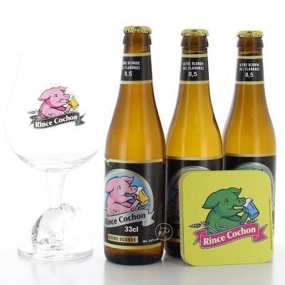 Coffret Rince Cochon - 3 bouteilles + 1 verre