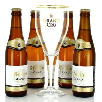 Coffret St-Feuillien Grand Cru - 4 bouteilles 33cl + 1 verre