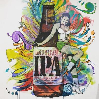Bouteille de bière Lagunitas IPA