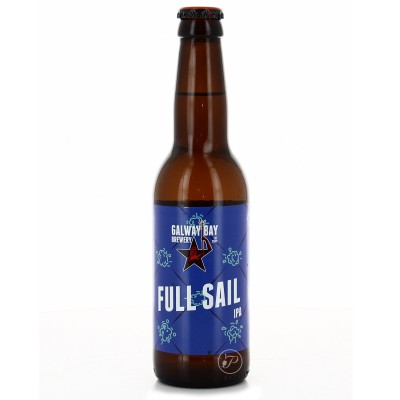 Bouteille de bière GALWAY BAY FULL SAIL IPA 5.8° VP33CL