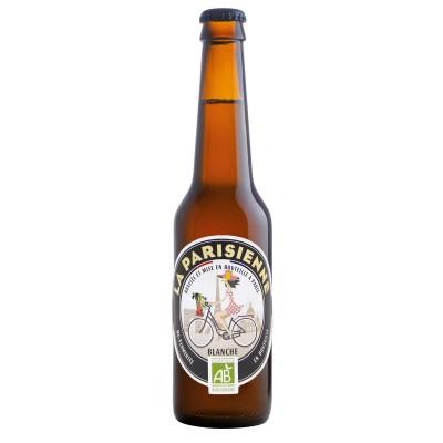 Bouteille de bière LA PARISIENNE BIO BLANCHE 6° VP33CL