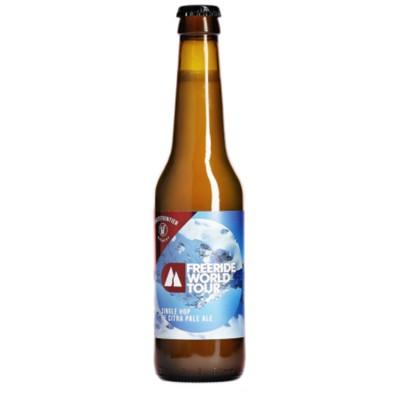 Bouteille de bière WHITE FRONT. FREERIDE 5° VP33CL