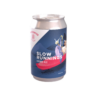 Bouteille de bière WHITE FRONTIER SLOW RUNNINGS 4.0° BOI 33CL