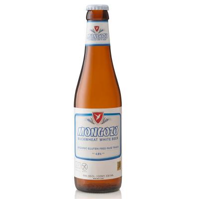 Bouteille de bière MONGOZO BUCKWHEAT WHITE4.8° VC33