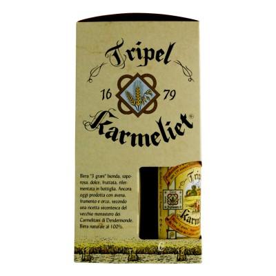 Coffret triple karmeliet 33cl 4 bouteilles et un verre