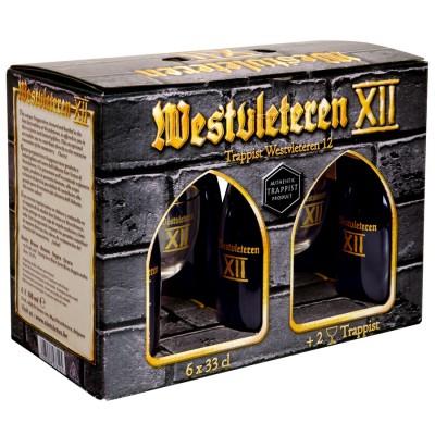 Coffret bière Westvleteren 6 bouteilles et 2 verres