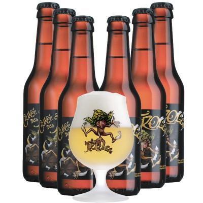 Coffret de 6 bières cuvée des trolls et son verre 25 cl