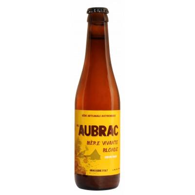 Bouteille de bière AUBRAC BLONDE 5.8°