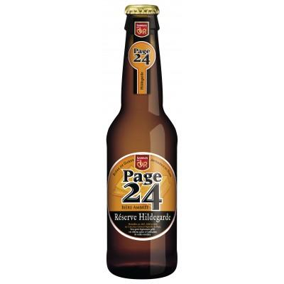 Bouteille de bière PAGE 24 AMBREE 6.9°