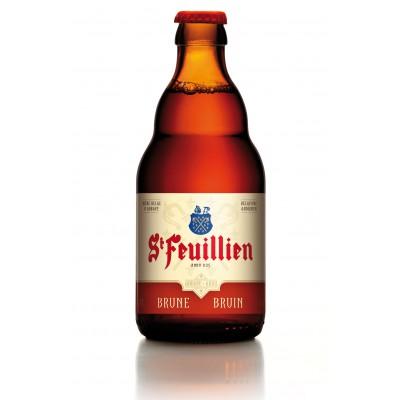 Bouteille de bière ST FEUILLIEN BRUNE 8.5°