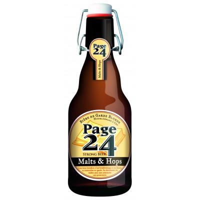 Bouteille de bière PAGE 24 MALT & HOPS 8.9°