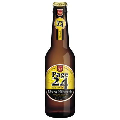 Bouteille de bière Page 24 blonde Hildegarde 33cl