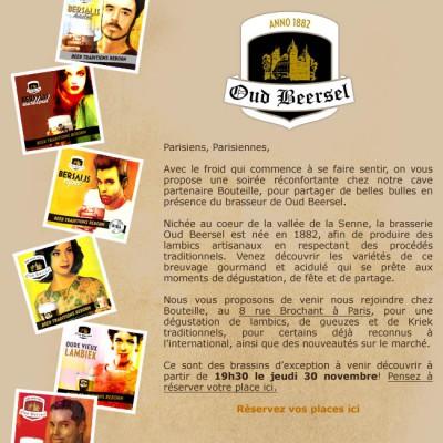 Billet d'entrée pour la soirée Dégustation des bières de la Brasserie Oud Beersel