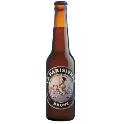 Bouteille de bière La Parisienne brune 33cl